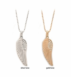 "1.15"" Jeweled Wing Necklace"