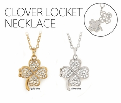 "1.15"" Clover Locket"