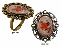 Vintage Style Rabbit Ring