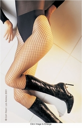 Plus Size Seamless Lycra Fishnet Pantyhose