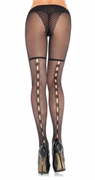 Mini Fishnet Pantyhose with Keyhole Backseam