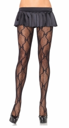 Lace Pantyhose with Bow Design