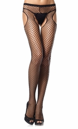 Industrial Net Fishnet Suspender Panyhose