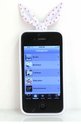 White Bandanna Silicone iPhone Cover