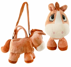 Costumes-Plush Horse Handbag