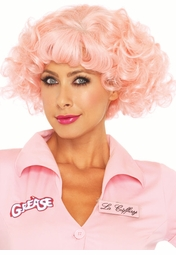 Pink Frenchie Grease Wig