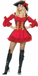 Red Pirate Mama Costume