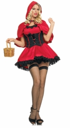 Sexy Red Riding Hood Costume in Red and Black