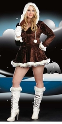 Plus Size 4-Piece Eskimo Cutie Costume