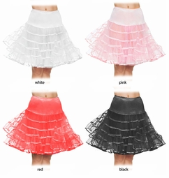 "21"" Long Luxe Knee Length Petticoat"