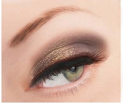 Champagne and Brown Glitter Powder for Eyeliner and Eye Makeup