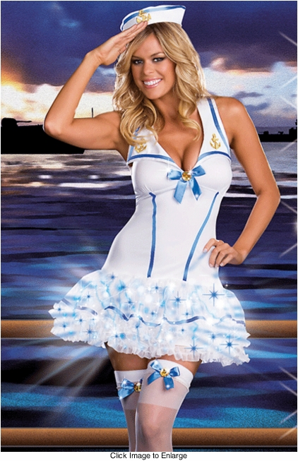 Sailor Light Up Fiber Optic Lights Costume