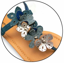 Cute Thong Sandals with Flower Detail