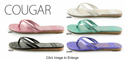 Stylish Metallic Flip Flops with Double Strap