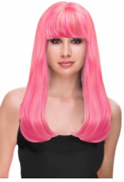 Bubble Gum Pink Glamour Wig for $29.99
