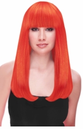 Red Orange Premium Long Wig