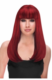 Mixed Red and Black Two Tone Glamour Wig for $29.99