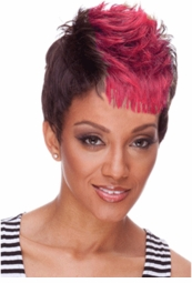 Red and Black Short Punky Wig for $19.99