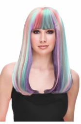 Glamour Wig in Lilac, Pink and Light Blue for $29.99