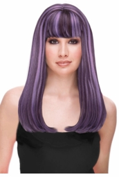 Two Tone Glamour Wig in Grape Purple for $29.99