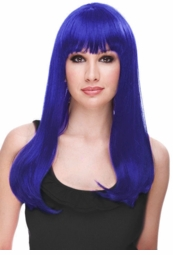 Blue Glamour Wig in Fashion Forward Colors for $29.99