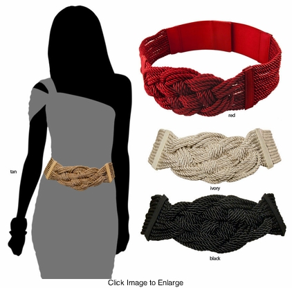 Braided Rope Elastic Belt