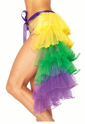 Mardi Gras Layered Organza Bustle Skirt