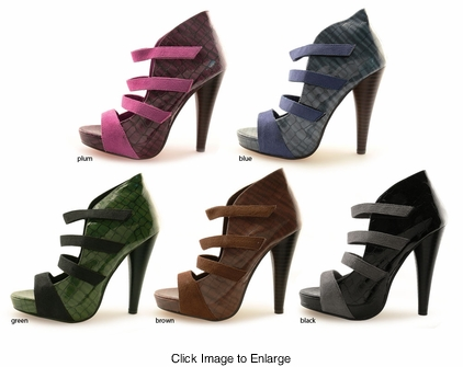"5"" Platform Ankle Booties ""Erza"" from Michael Antonio"