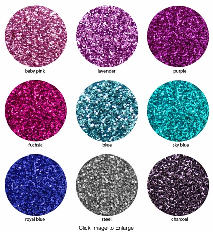 Sparkly Ultra Fine Loose Vibrant Glitter in 9 Colors