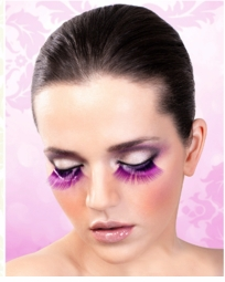 False Eyelashes -Purple Lashes