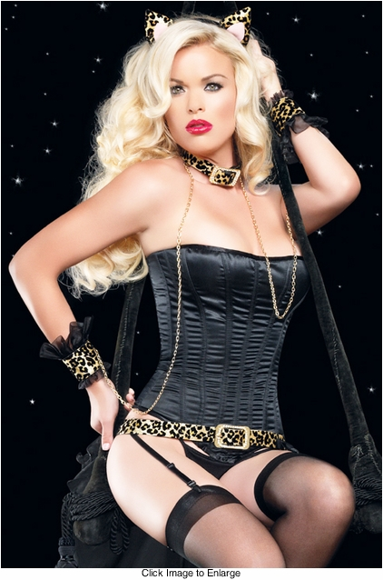 Laurie Corset in Black Satin