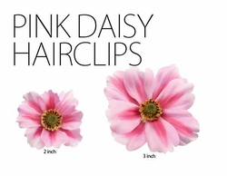 Two Pink Daisy Hair Clips