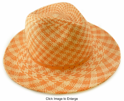"3"" Wide Brim Straw Panama Hat"