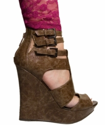 "5"" Wedge Shoes ""Giza"" Tan from Michael Antonio"