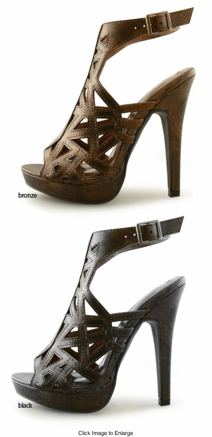 "5"" Cutout Shoes with 1"" Front Platform"