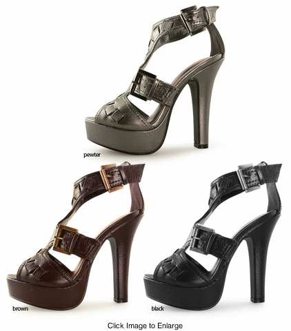 "5"" Strappy Shoes with 1"" Front Platform"