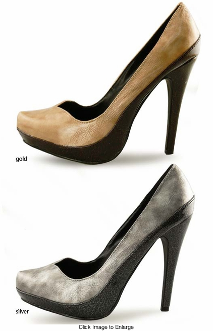 "SALE ** 4.5"" Two Tone Pumps ""Louvre"" from Michael Antonio"