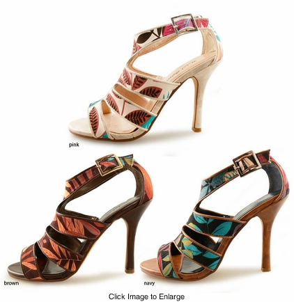 "SALE ** 4"" Print Sandal Shoes ""Condica"" from Michael Antonio"