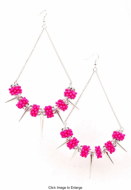 "5"" Long Bold and Big Vibrant Chandelier Earrings"