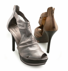 "SALE** 5"" Ruched Open Toe Sandal Booties"