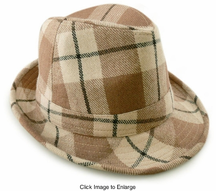 Checker Fedora Hat