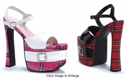 "Women's 656-St. Mary 6.5"" Heel Plaid Platform Sandal"