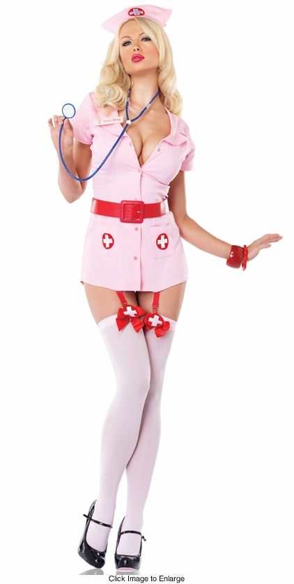 Naughty Nurse Betty Costume in Pink