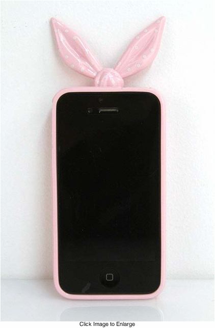 Light Pink Bandanna Silicone iPhone Cover