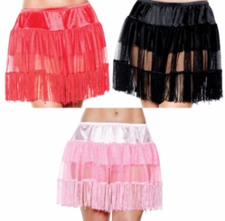 Multi Layered Petticoat with Fringe Trim
