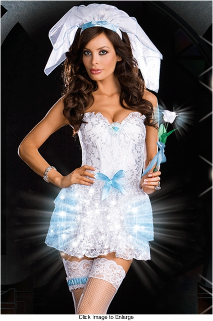 Bride Light Up Fiber Optic Lights Costume