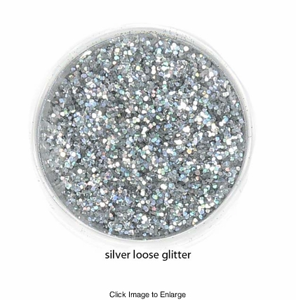 Silver Color of Luxe Glitter Powder for Eyeliner and Eye Makeup