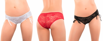 Lace Boyshorts with front Ruching