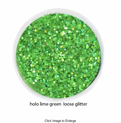 Lime Green Iridescent Color of Luxe Glitter Powder for Eyeliner Makeup