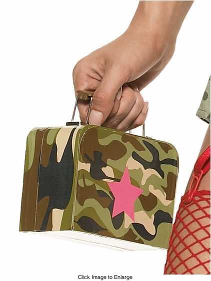 Costumes-Camouflage Army Lunch Box Purse